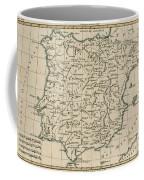 Antique Map Of Spain Coffee Mug