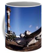 Antique Navy Seaplane Parked In Front Coffee Mug by Michael Wood