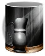 Antique Pewter Pitcher Coffee Mug
