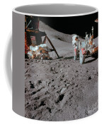 Apollo 15 Astronaut Works At The Lunar Coffee Mug