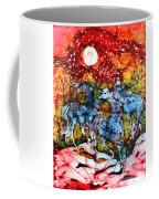 Appaloosas On A Fiery Night Coffee Mug by Carol Law Conklin