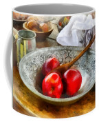 Apples In A Silver Bowl Coffee Mug by Susan Savad