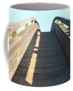 Arched Pedestrian Bridge At Martinez Regional Shoreline Park In Martinez California . 7d10526 Coffee Mug