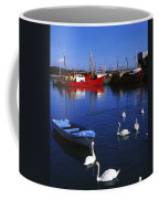 Ardglass, Co Down, Ireland Swans Near Coffee Mug
