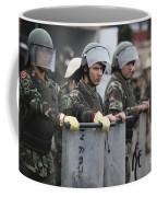 Argentine Marines Dressed In Riot Gear Coffee Mug