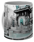 Arles Fountain With A Spot Of Color Coffee Mug