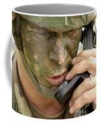 Army Master Sergeant Communicates Coffee Mug