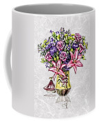 Arrangement In Pink And Purple On Rice Paper Coffee Mug