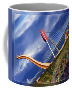 Arrow Through Bay Bridge Coffee Mug