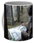 Artist At Ankor Wat Coffee Mug