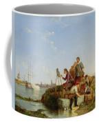 Artist At His Easel And Shipping Beyond Coffee Mug