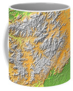 Artistic Map Of Southern Appalachia Coffee Mug