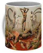 Artists Concept Of Mutated Dinosaurs Coffee Mug by Mark Stevenson
