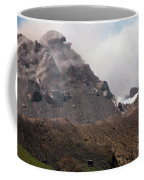 Ash And Gas Rising From Lava Dome Coffee Mug by Richard Roscoe