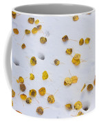 Aspen Leaves In The Snow Coffee Mug