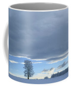 Aspen Tree And Winter Clouds Coffee Mug
