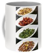Assorted Herbal Wellness Dry Tea In Bowls Coffee Mug