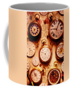 Assorted Watches On Time Chart Coffee Mug