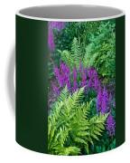 Astilbe And Ferns Coffee Mug