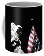 Astronaut Stands Next To The American Coffee Mug