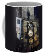 Astronomical Clock At Night Coffee Mug