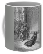 Athaliah (d. 836 B.c.). /nqueen Of Judah, C842-836 B.c. The Death Of Athaliah (ii Chronicles 22:10, 23:15). Wood Engraving, 19th Century, After Gustave Dor� Coffee Mug
