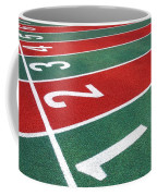Athletic Track Markings With Numbers Coffee Mug