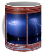 August Storm Red Barn Picture Window Frame Photo Art View Coffee Mug