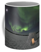 Aurora Borealis Over An Igloo On Walsh Coffee Mug