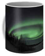 Aurora Borealis Over Vee Lake Coffee Mug