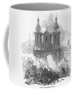Austrian Revolution, 1848. Conflict At The University Of Vienna, Austria, During The Revolution Of 1848. Wood Engraving From A Contemporary English Newspaper Coffee Mug