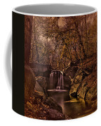 Autumn At The Waterfall In The Ravine In Central Park Coffee Mug