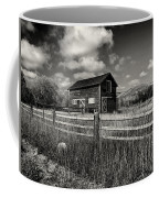 Autumn Barn Black And White Coffee Mug
