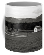 Autumn Barn In Green Bank Wv Bw Coffee Mug