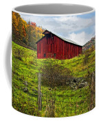 Autumn Barn Painted Coffee Mug
