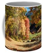 Autumn Campground In Blacksmith Fork Canyon - Utah Coffee Mug