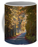 Autumn Country Road - Oil Coffee Mug