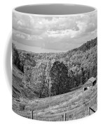 Autumn Farm 2 Monochrome Coffee Mug