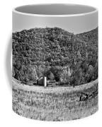 Autumn Farm Monochrome Coffee Mug