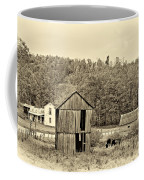 Autumn Farm Sepia Coffee Mug by Steve Harrington