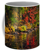 Autumn Forest And River Landscape Coffee Mug