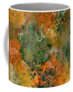 Autumn Forest Tree Tops Abstract Coffee Mug