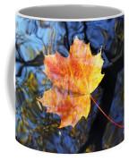 Autumn Leaf On The Water Level Coffee Mug