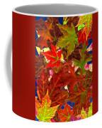 Autumn Leaves Collage Coffee Mug