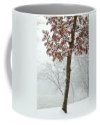 Autumn Leaves In Winter Snow Storm Coffee Mug