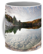 Autumn Nature Lake Rocks And Trees Panorama Coffee Mug