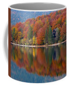 Autumn Reflections On Lake Bohinj In Slovenia Coffee Mug