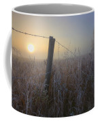 Autumn Sunrise Over Hoar Frost-covered Coffee Mug