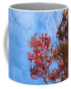 Autumn Trees Art Prints Blue Sky White Clouds Coffee Mug