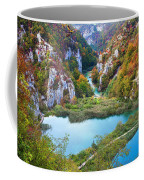 Autumn Valley Landscape Coffee Mug